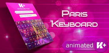 Paris Animated Keyboard Theme