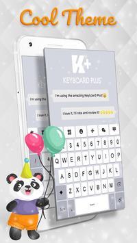 White Keyboard poster