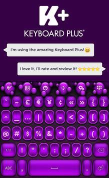 Keyboard Purple HD apk screenshot