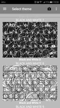 Black & White Keyboard Themes poster