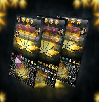 Gold Rasta GO Keyboard Theme poster