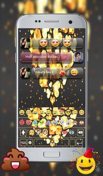 Golden Love Diamond Go Keyboard Theme apk screenshot
