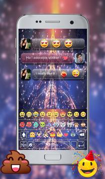 Eiffel Tower Night GO Keyboard Theme apk screenshot