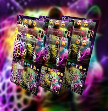 Hologram Leopard GO Keyboard Theme poster