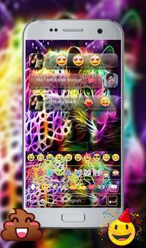 Hologram Leopard GO Keyboard Theme screenshot 14