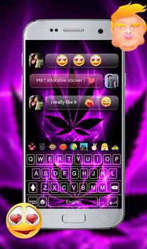 Purple Rasta GO Keyboard Theme screenshot 7