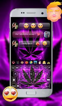 Purple Rasta GO Keyboard Theme screenshot 14