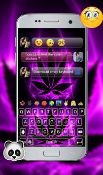 Purple Rasta GO Keyboard Theme screenshot 1