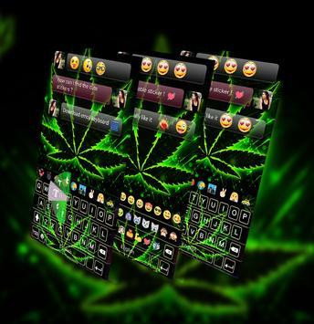 weed Rasta GO Keyboard Theme poster