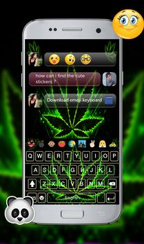 weed Rasta GO Keyboard Theme apk screenshot