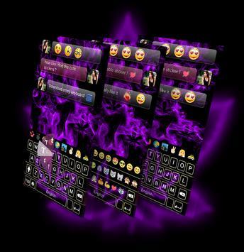 Rasta Purple Neon GO Keyboard Theme screenshot 8