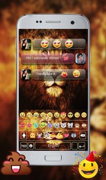 Wild Lion Emoji GO Keyboard Theme screenshot 10