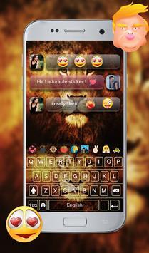 Wild Lion Emoji GO Keyboard Theme screenshot 11