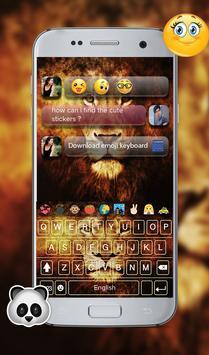 Wild Lion Emoji GO Keyboard Theme screenshot 1