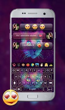 Galaxy Kitty GO Keyboard Theme screenshot 7