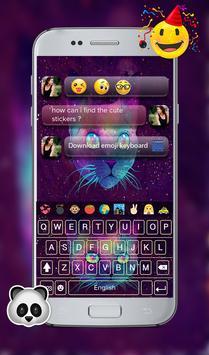 Galaxy Kitty GO Keyboard Theme screenshot 9