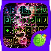 Sparkling Heart GO Keyboard Theme icon