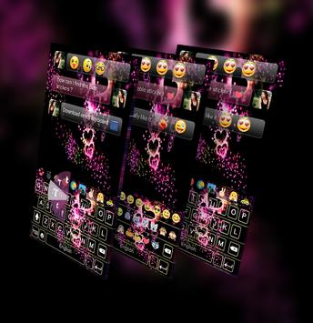 Sparkling Heart GO Keyboard Theme screenshot 8