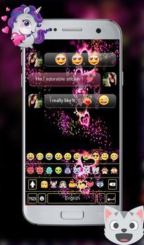 Sparkling Heart GO Keyboard Theme screenshot 2