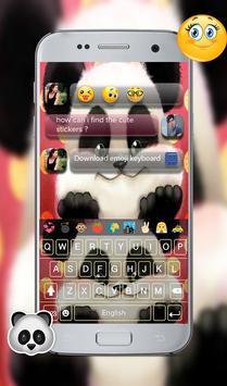 teddy panda GO keyboard theme screenshot 1