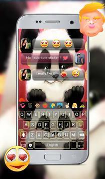 teddy panda GO keyboard theme screenshot 3