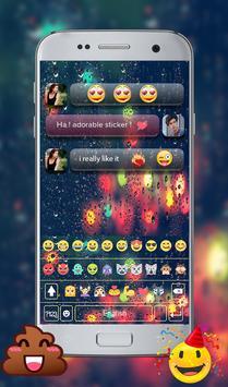 Rain Emoji GO Keyboard apk screenshot