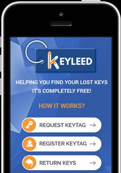 KEYLEED - Helping you with your lost keys poster