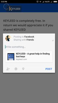 KEYLEED - Helping you with your lost keys apk screenshot