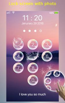 lock screen - bubble apk screenshot