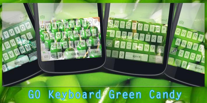 GO Keyboard Green Candy poster