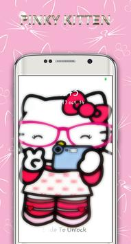 cute pinky kitten lock screen screenshot 10
