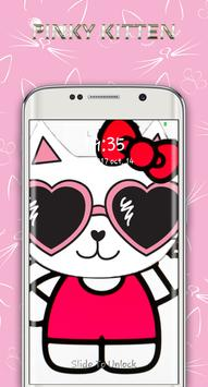 cute pinky kitten lock screen screenshot 2