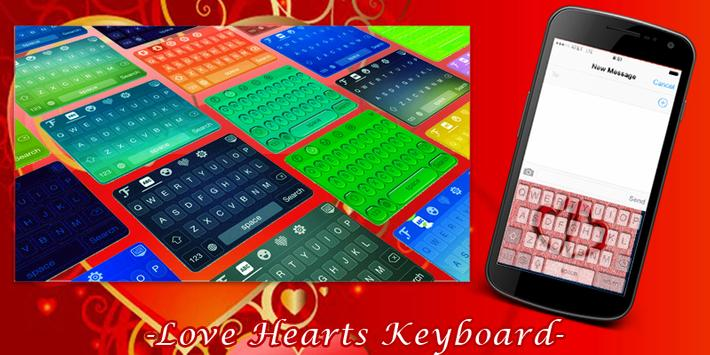 Love Hearts Keyboard poster