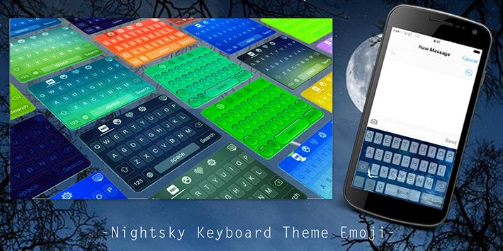 Nightsky Keyboard Theme Emoji poster