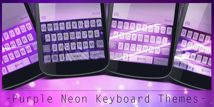Purple Neon Keyboard Themes poster