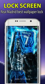 Real Madri|)  Lockscreen  themes wallpaper 2018 HD poster