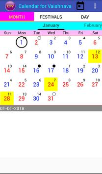 Calendar for Vaishnava screenshot 3
