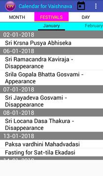 Calendar for Vaishnava screenshot 4