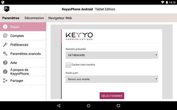 Keyyo Phone pour tablette apk screenshot