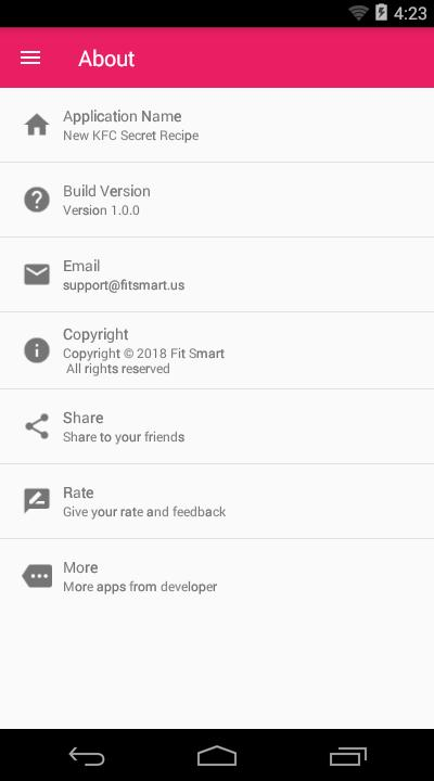 New KFC Secret Recipe for Android - APK Download