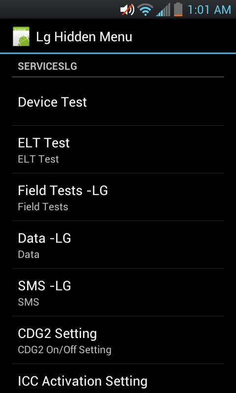 Lg Phone Hidden Menu
