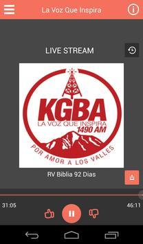 KGBA 1490 AM Radio Cristiana poster