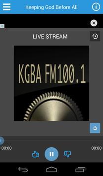 KGBA 100.1 FM Christian Radio poster