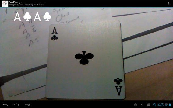 CardRecog Recognize Play Cards apk screenshot