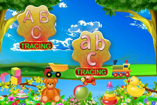 ABC Learning and tracing for kids poster