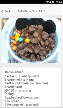 Resep Es Kepal Milo screenshot 1