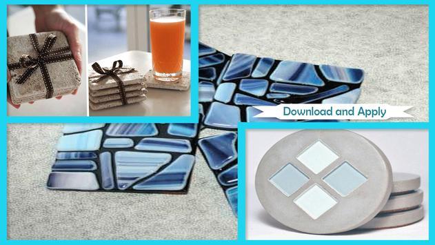 Modern DIY Concrete Coasters poster