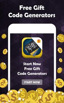 Free Gift Code Generators poster