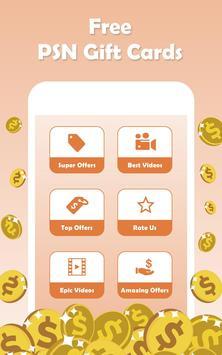 Free PSN Codes Generator - Free  PSN  Gift Cards apk screenshot
