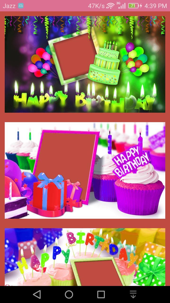 Nama Dan Foto Di Kue Ulang Tahun Kue Bingkai For Android Apk Download
